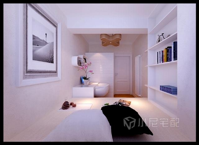 小面积的复式结构,简洁大方的现代风格,客厅的结构布置,以及冰箱的位置,合理运用空间在小面的户型里面是最重要的。次卧室的榻榻米,避免了在横梁下居住的问题。在这个居室里,由于层高问题,还是以前的暖气片为主,不能更改地暖。