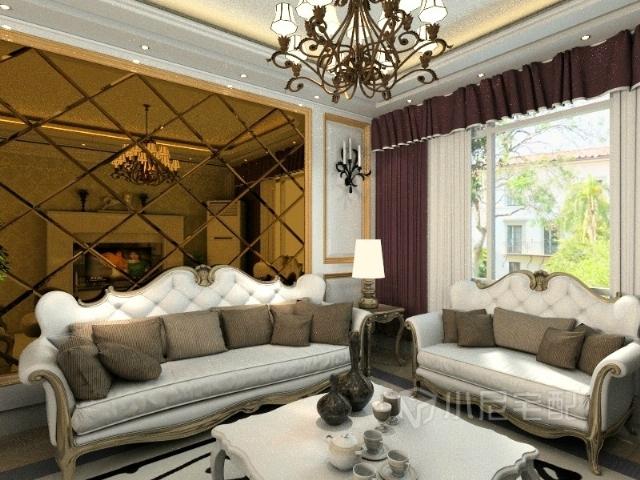 华贵典雅的欧式沙发,加上时尚的沙发背景墙