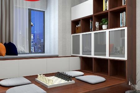 书房榻榻米定制 多功能书房组合柜书桌书柜组合榻榻米床小户型收纳储