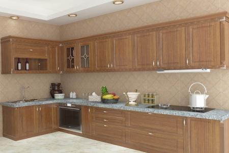 石英石台面柜整体橱物柜吸塑材质门板订做橱柜经典欧式厨房橱柜