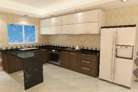 春华秋实整体橱柜定做 厨房储物柜多功能橱柜定制现代简约实木厨柜